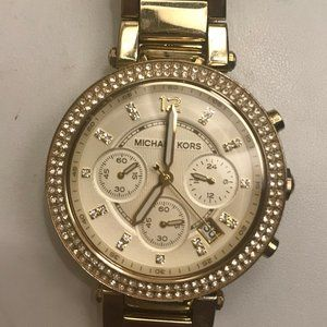 Gold Michael Kors Watch with Diamond Face